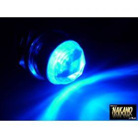 LED パイロットランプ 24V (ブルー/ブルー) ナンバー枠 レトロ車