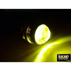 LED パイロットランプ 24V (イエロー/黄色) ナンバー枠 レトロ車
