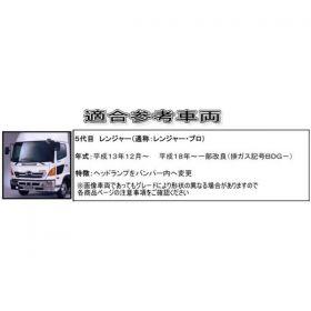ドアガーニッシュ メッキ R/Lセット 日野 4t レンジャープロ用(573363)2
