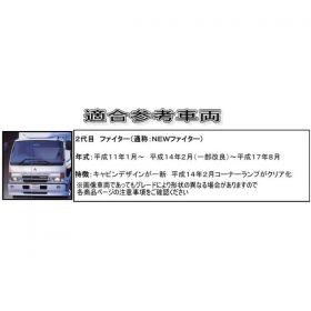 コーナーパネル メッキ R/Lセット フソー4t NEWファイター用2