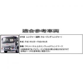 コーナーパネル メッキ R/Lセット 日野4t クルージング/ライジングレンジャー用2
